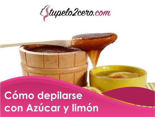 Cómo depilarse con azúcar y limón